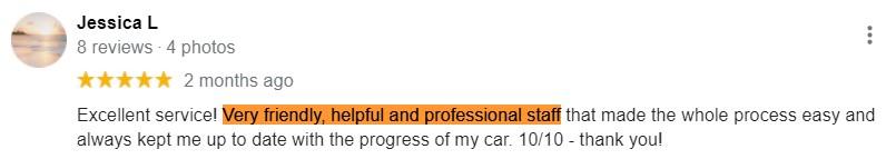 jessica l google review