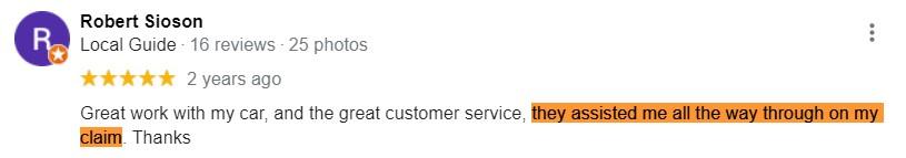 robert sioson google review
